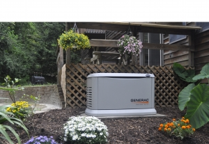 Ambrose Electric Generac Generator in Landscaping Large
