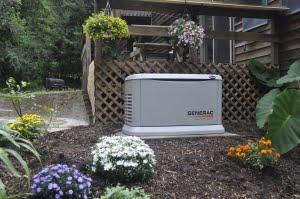 Ambrose Electric Generac Generator in Landscaping